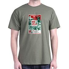 Santa Conquers The Martians T-Shirt