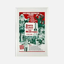 Santa Conquers The Martians Rectangle Magnet