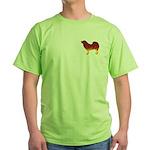 Mastiff Flames Green T-Shirt