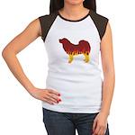 Mastiff Flames Women's Cap Sleeve T-Shirt