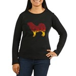Mastiff Flames Women's Long Sleeve Dark T-Shirt