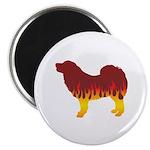 Mastiff Flames Magnet