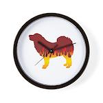 Mastiff Flames Wall Clock