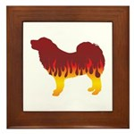Mastiff Flames Framed Tile