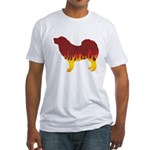Mastiff Flames Fitted T-Shirt