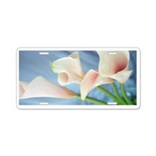 Lily Silk Parade Photo Aluminum License Plate