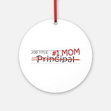 Job Mom Principal Ornament (Round)