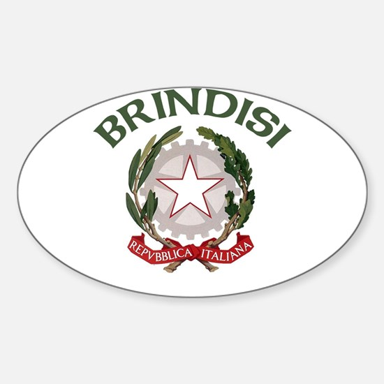 Brindisi, Italy Oval Decal