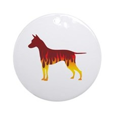 Ridgeback Flames Ornament (Round)