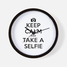 Keep Calm and Take a Selfie Wall Clock