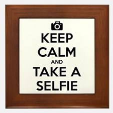 Keep Calm and Take a Selfie Framed Tile