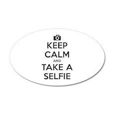 Keep Calm and Take a Selfie 22x14 Oval Wall Peel