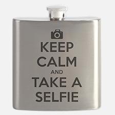 Keep Calm and Take a Selfie Flask
