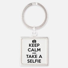 Keep Calm and Take a Selfie Square Keychain