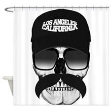 Skull and mustache Shower Curtain