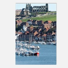 Upper harbour of Whitby w Postcards (Package of 8)