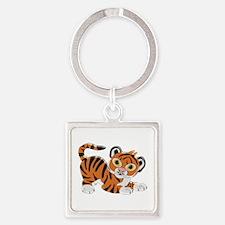 Tiger Design Keychains