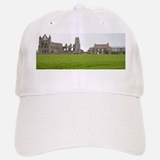 Whitby Abbey ruins and farm Baseball Baseball Cap