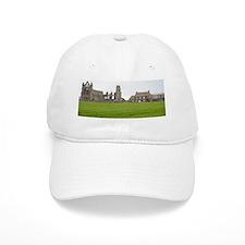 Whitby Abbey ruins and farm Baseball Cap