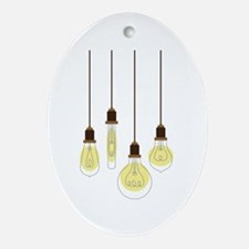 Vintage Light Bulbs Ornament (Oval)