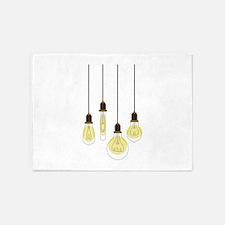 Vintage Light Bulbs 5'x7'Area Rug