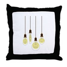 Vintage Light Bulbs Throw Pillow