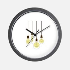Vintage Light Bulbs Wall Clock
