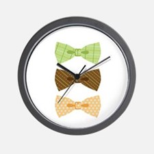 Colored Bowtie Clothing Wall Clock