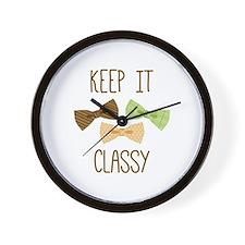 Keep It Classy Wall Clock