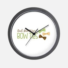 Real Men Wear Bow Ties Wall Clock