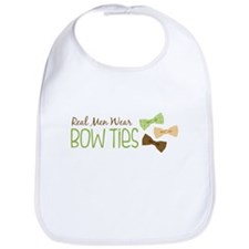 Real Men Wear Bow Ties Bib