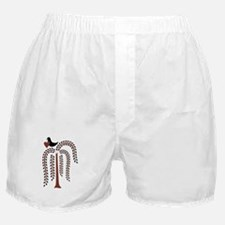 Primitive Country Willow Tree Crow Boxer Shorts