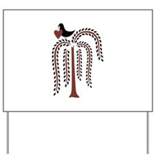 Primitive Country Willow Tree Crow Yard Sign