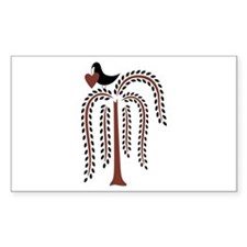 Primitive Country Willow Tree Crow Decal
