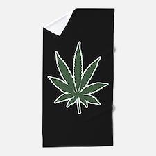 Cannabis Leaf Beach Towel