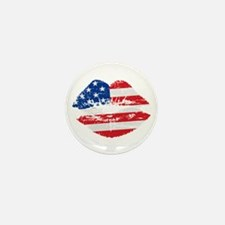 American Flag Lips Mini Button (10 pack)