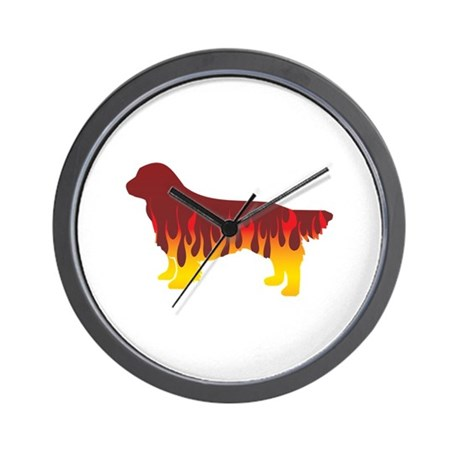 Sussex Flames Wall Clock