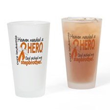Leukemia Heaven Needed Hero Drinking Glass