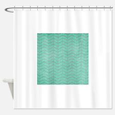 hg-chevronpaper-5 Shower Curtain