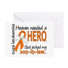 Leukemia Heaven Needed Hero 1.1 Greeting Card