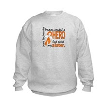 Leukemia Heaven Needed Hero Sweatshirt
