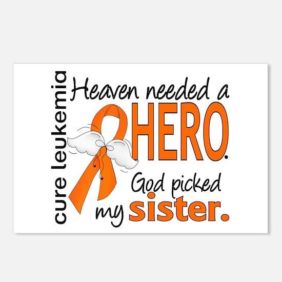 Leukemia Heaven Needed He Postcards (Package of 8)
