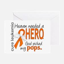 Leukemia Heaven Needed Hero Greeting Card