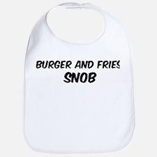 Burger And Fries Bib