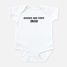 Burger And Fries Infant Bodysuit