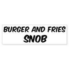 Burger And Fries Bumper Bumper Sticker