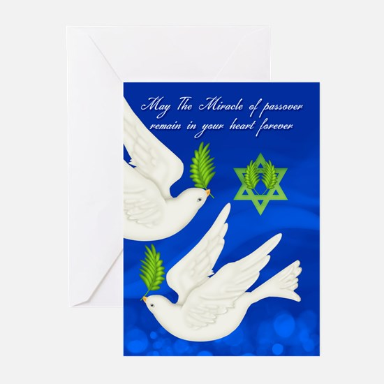 Dove Passover With Olive Greeting Cards (pk Of 10)