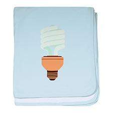 Energy Efficient Light Bulb baby blanket