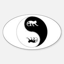Yin Yang Baboon Symbol Decal