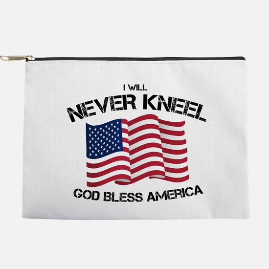 I will never kneel God Bless America Makeup Pouch